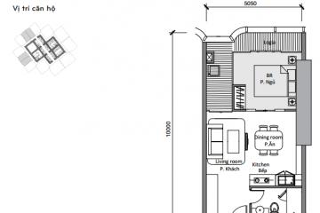 Cho thuê Officetel Landmark 81 diện tích 54 m2