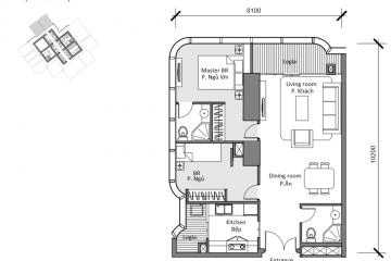 Officetel Landmark 81 diện tích 88m2 cho thuê giá 2000usd/tháng