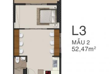 Officetel Richmond City tầng cao 54m2 cần cho thuê