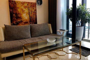 Cho thuê Vinhomes Bason 2 phòng ngủ tầng cao đầy đủ nội thất