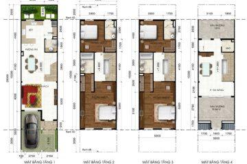 Nhà phố A Lakeview City 4PN full NT cho thuê diện tích 100.00 m2