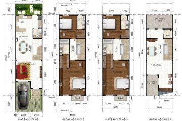 Nhà phố B Lakeview City 4PN full NT cho thuê diện tích 100.00 m2