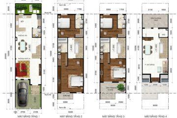 Nhà phố C Lakeview City 4PN full NT cho thuê diện tích 100.00 m2