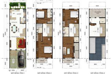 Nhà phố D Lakeview City 4PN full NT cho thuê diện tích 100.00 m2