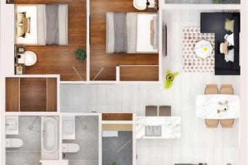 Cần bán căn hộ tòa M Kingdom 101 tầng thấp 2 phòng ngủ giá 6.5 tỷ