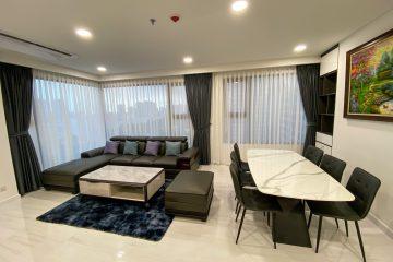 Cho thuê căn hộ Kingdom 101 3 phòng ngủ đầy đủ nội thất tầng trung