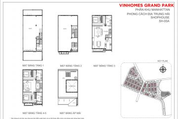 Bán nhà phố Vinhomes Grand Park giá tốt thiết kế 5 tầng 1 áp mái