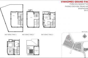 Bán nhà phố Vinhomes Grand Park hoàn thiện thô diện tích 183m2