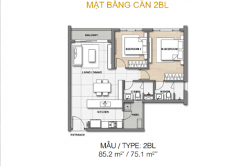 Bán gấp căn hộ Palm Heights Keppel Land 2 PN đầy đủ nội thất