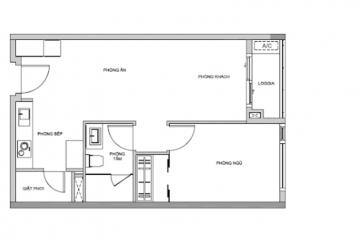 Căn hộ Gateway Thảo Điền tháp Madison diện tích 58m2 1 phòng ngủ cho thuê