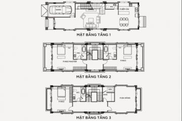 Bán biệt thự đơn lập 3 phòng ngủ thiếu kế theo mẫu BT-01 3 tầng 1 áp mái