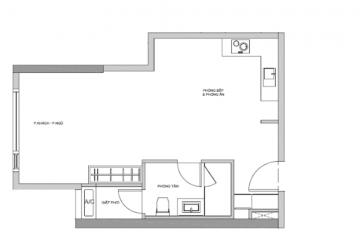 Cho thuê gấp studio Gateway Thảo Điền quận 2 diện tích 49m2 giá tốt