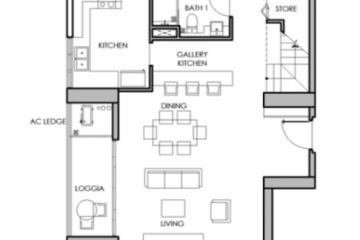 Thuê căn hộ Vista Verde 5 phòng ngủ nội thất cơ bản tầng trung