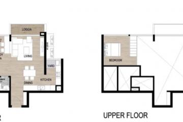 Cho thuê căn hộ Loft chung cư The Galleria Residence 2 phòng ngủ