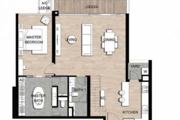 Chính chủ cho thuê căn hộ Loft chung cư The Crest Residence giá tốt
