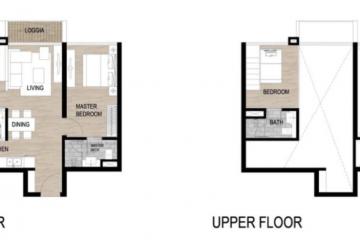Cho thuê căn hộ The Galleria Residence tầng trung 2 phòng ngủ