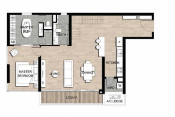 Thuê căn góc chung cư The Crest Residence diện tích 104.61m2
