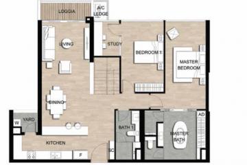 Cần cho thuê căn hộ Loft chung cư Metropole Thủ Thiêm quận 2