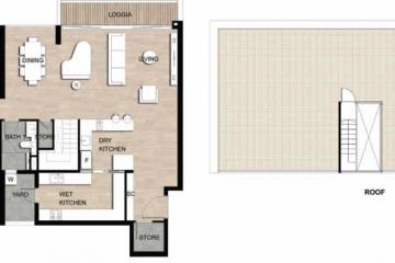 Cho thuê căn hộ Loft The Crest Residence diện tích lớn view nội khu