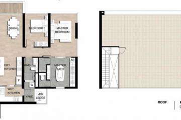 Cho thuê căn hộ Loft The Crest Residence tầng cao 2 phòng ngủ