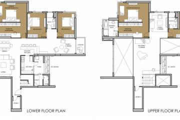 Cho thuê Duplex căn góc Vista Verde diện tích lớn 5 phòng ngủ view nội khu