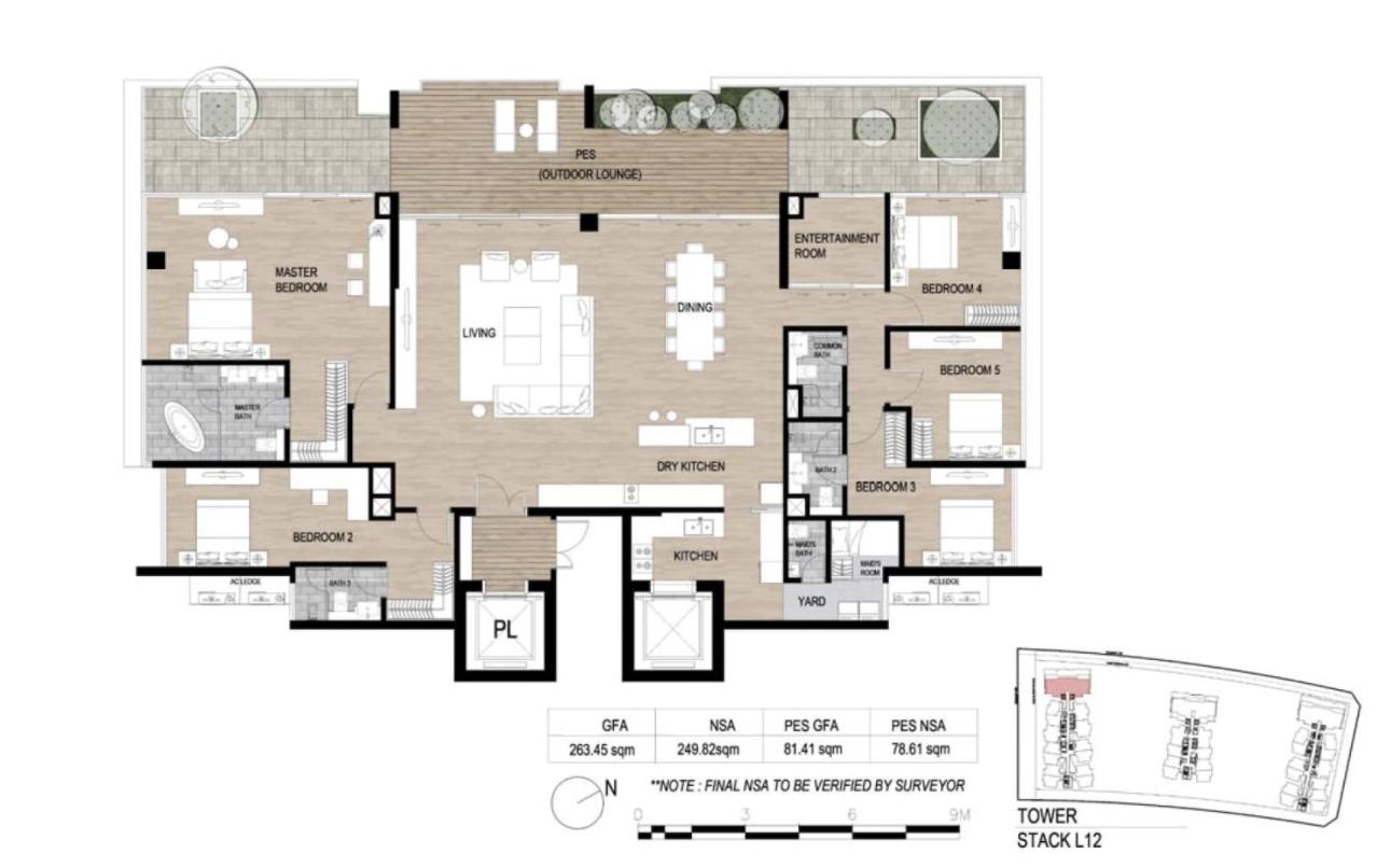 Cho thuê Penthouse The Galleria Residence 5 phòng ngủ diện tích lớn