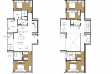 Cho thuê căn hộ Duplex 5 phòng ngủ Vista Verde nội thất cơ bản