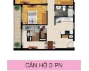 Cho thuê căn hộ Pearl Plaza 2 phòng ngủ diện tích 96.65m2
