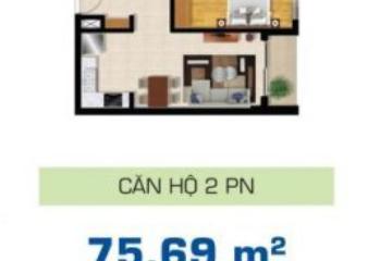 Căn hộ 2 phòng ngủ The Sun Avenue diện tích 75.69m2 cho thuê