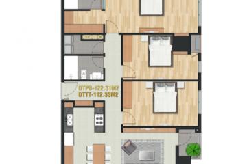 Chuyển nhượng căn hộ Pearl Plaza 3 phòng ngủ diện tích 122.31m2