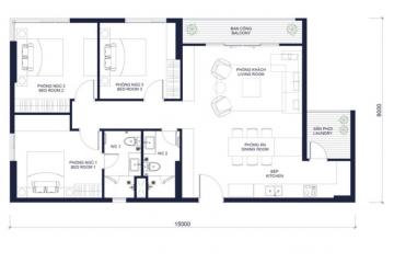 Căn hộ chung cư Millennium diện tích lớn thiết kế 3 phòng ngủ cho thuê gấp