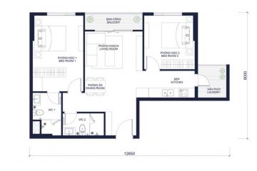 Cho thuê căn hộ chung cư Millennium view đẹp 2 phòng ngủ