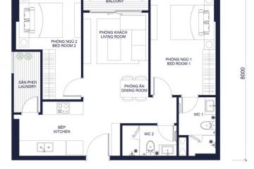 Căn hộ 2 phòng ngủ đầy đủ nội thất dự án Millennium quận 4 cho thuê