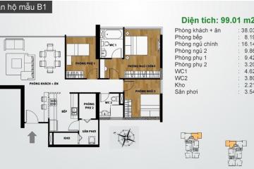 Bán căn hộ chung cư Ascent Thảo Điền quận 2 diện tích 99m2