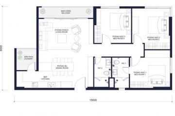 Chính chủ cho thuê căn hộ Millennium tầng cao 3 phòng ngủ
