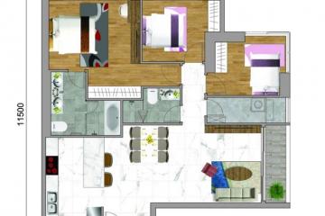 Bán căn hộ chung cư Sunwah Pearl quận Bình Thạnh thiết kế 3 phòng ngủ