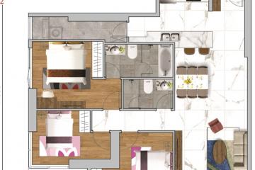 Cho thuê căn hộ chung cư Sunwah Pearl tầng cao 2 phòng ngủ