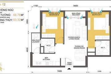 Bán căn hộ Masteri Thảo Điền nội thất cao cấp 2 phòng ngủ giá tốt