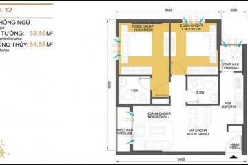 Căn hộ Masteri Thảo Điền tòa T2 thiết kế 2 phòng ngủ cần bán