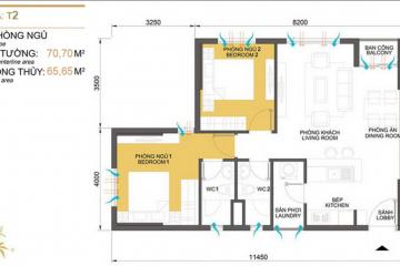 Sang nhượng căn hộ chung cư Masteri Thảo Điền tòa T2 2 phòng ngủ