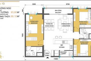 Cho thuê căn hộ Masteri Thảo Điền tháp T3 nội thất đầy đủ