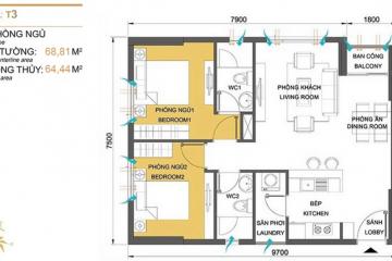 Chính chủ sang nhượng căn hộ Masteri Thảo Điền tầng thấp 2 phòng ngủ