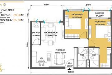 Bán căn hộ Masteri Thảo Điền tòa T3 tầng trung thiết kế 2 phòng ngủ giá tốt