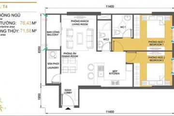 Cho thuê căn hộ chung cư Masteri Thảo Điền tháp T4 2 phòng ngủ