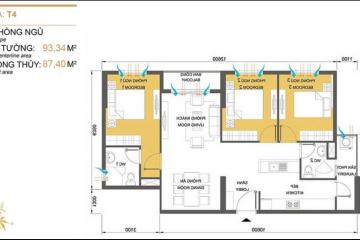Căn hộ Masteri Thảo Điền tháp T4 tầng thấp 3 phòng ngủ cho thuê