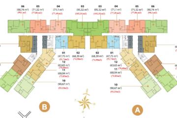 Căn hộ 2 phòng ngủ Masteri Thảo Điền diện tích 77.49m2 cho thuê gấp