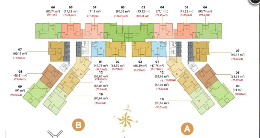 Căn hộ chung cư Masteri Thảo Điền quận 2 tòa T5 2 phòng ngủ cho thuê