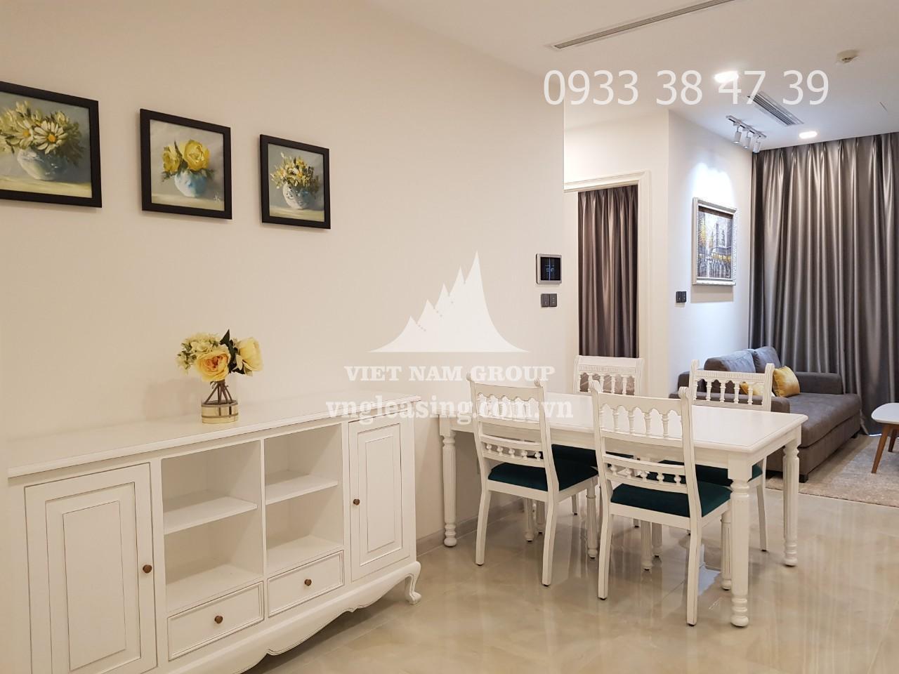 Cho thuê căn hộ Vinhomes Golden Bason full nội thất 2 phòng ngủ